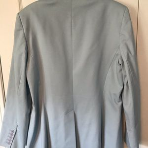 Talbots Jackets & Coats - Talbot's pale slate blue fitted long blazer